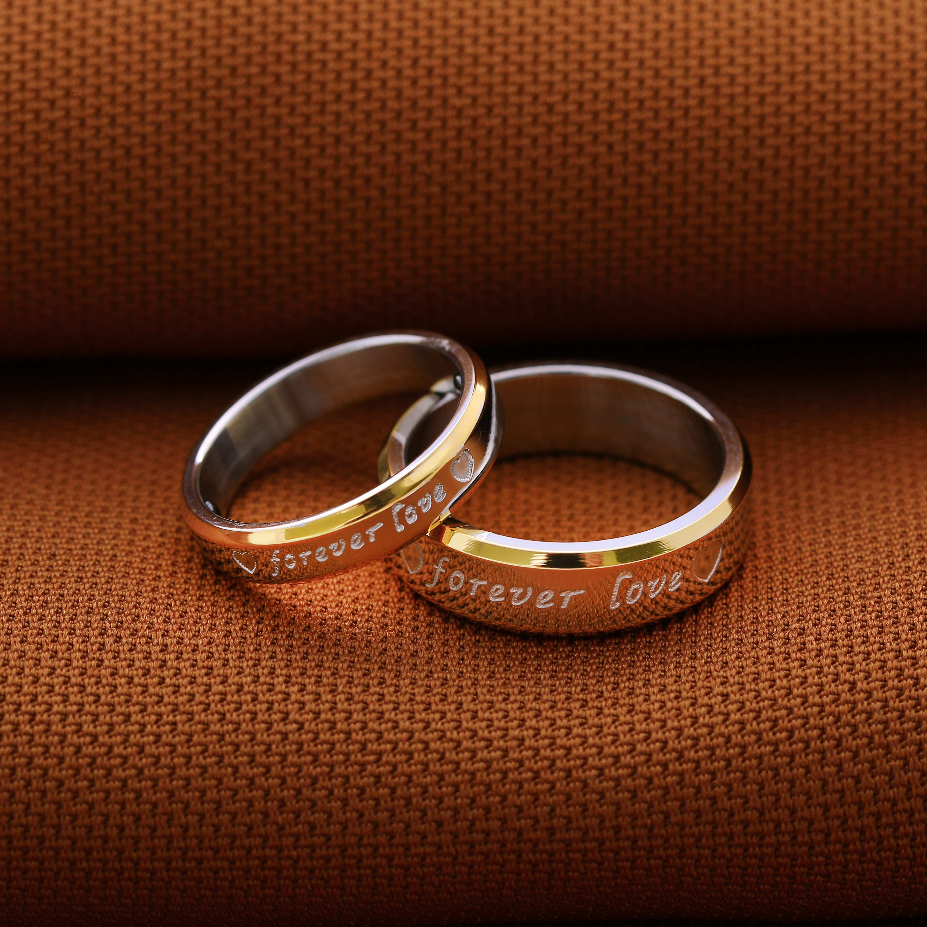 85d4c2eff1f7f Technowise360 - Forever Love 316L Stainless Steel Couple Ring Womens ...