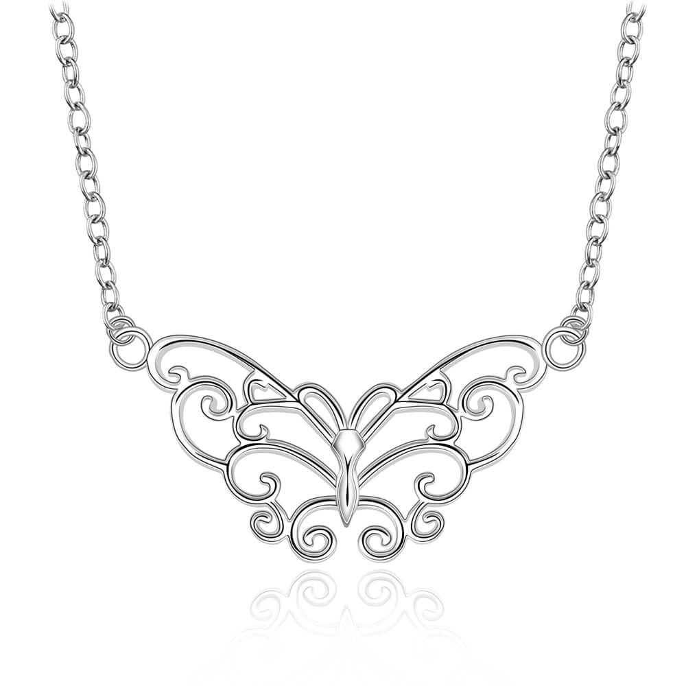 Technowise360 - Vanessa Butterfly 925 Silver Plated Necklace