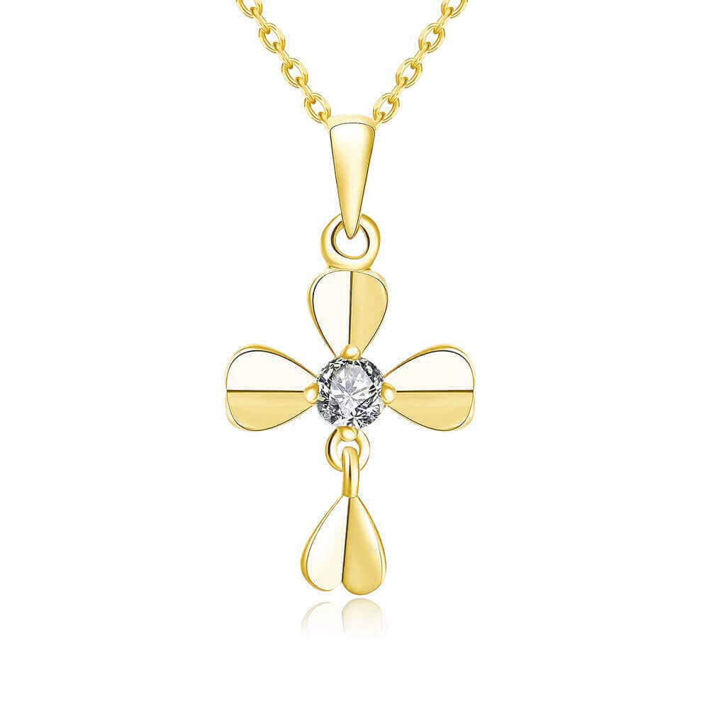 435a3e73d16a Technowise360 - Martha 18K Gold Plated Cross Necklace