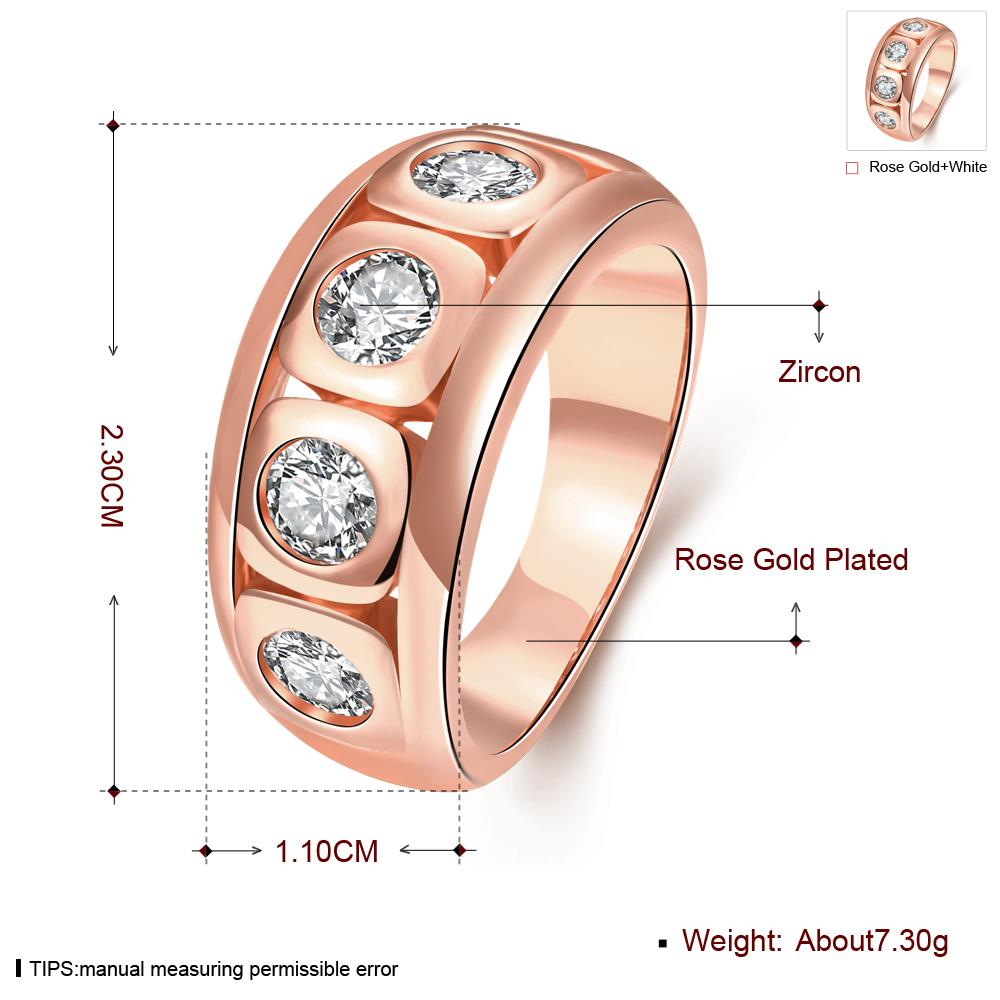 Technowise360 - Eldar Rose Gold Plated Ring by Elite