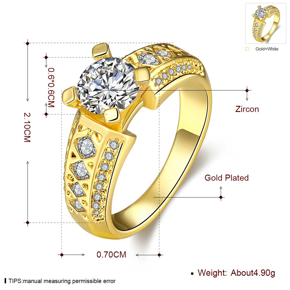 Technowise360 - Grizela 18K Gold Plated Ring by Elite