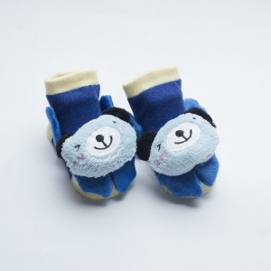 Blue Socks with Light Blue Happy Koala head design