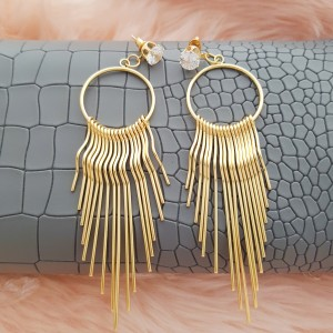 Dale 18k Gold Plated Dangling Earrings