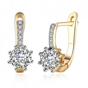 Saira Stoned 18k Gold Plated Earrings