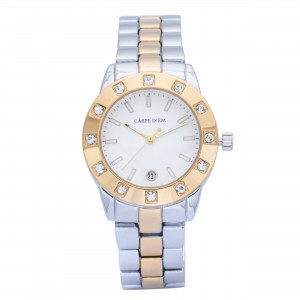 Plethora Dual Tone Gold & Silver Metal Watch by Carpe Diem