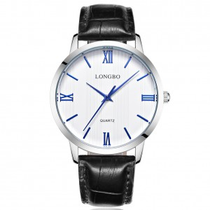 Lewis Black Leather Watch For Men