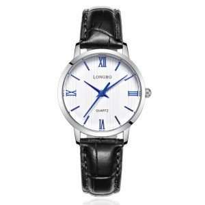 Lewis Black Leather Watch For Women
