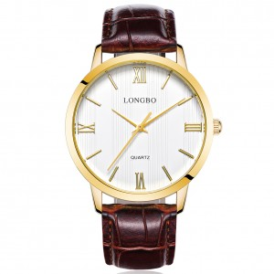 Lewis Brown Leather Watch For Men