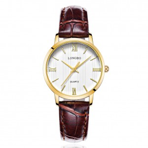 Lewis Brown Leather Watch For Women