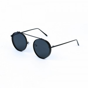 Columbia Round Jet Black Sunglasses