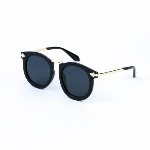 Florida Round Jet Black Sunglasses