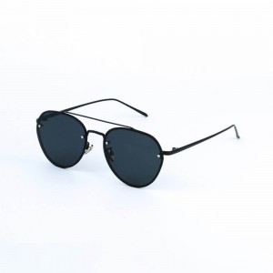 Montana Rimless Jet Black Sunglasses