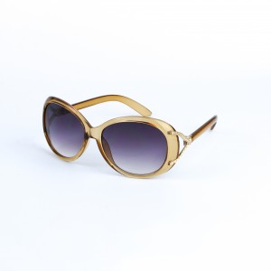 Burke Butterly in Gradient Purple Lense with Beige Frame