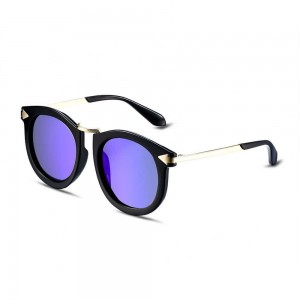 Florida Round Purple with Black Rim Sunglasses