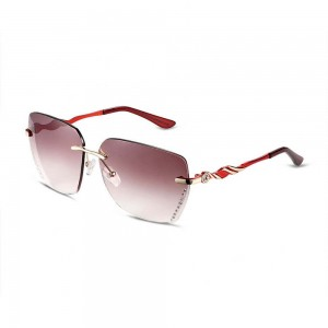 Iowa Square Rimless Pink Glo