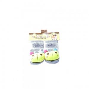 Infant Socks with Blue Ears