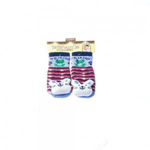 Infant Socks Stripes with Bunny Design