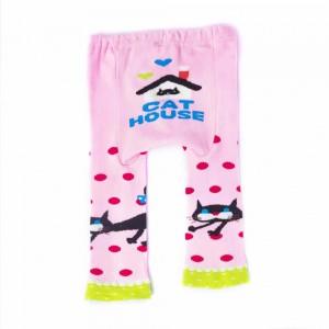 Cotton Pants with Cat Design
