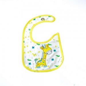 Waterproof Bib with Giraffe Design