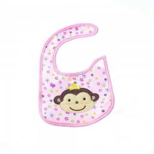 Waterproof Bibs with Monkey Design