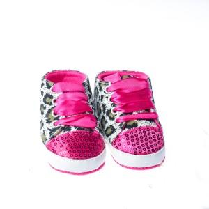 Pre-walker Shoes w/ leopard print (Pink)