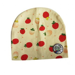 Baby Bonnet with Strawberry Design
