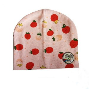 Baby Bonnet with Apple Patch