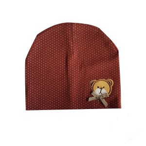 Baby Bonnet with Teddy Bear Patch