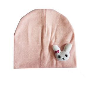 Baby Bonnet with Rabbit Patch