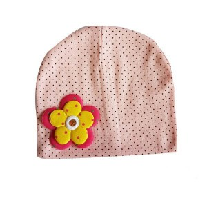 Baby Bonnet with Flower Patch