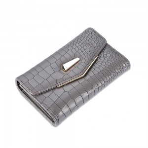 Cecile Envelope Wallet in Gray
