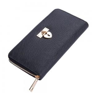 Helen Zip Wallet in Black