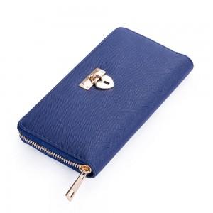 Helen Zip Wallet in Deep Blue