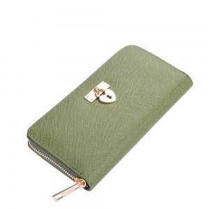 Helen Zip Wallet in Olive Green