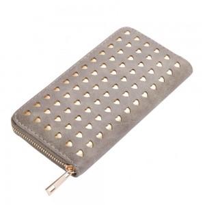 Laura Hearts Zip Wallet in Toffee