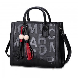 Monique Satchel Bag in Black