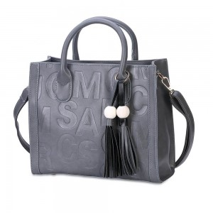 Monique Satchel Bag in Gray