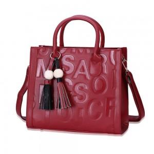 Monique Satchel Bag in Red