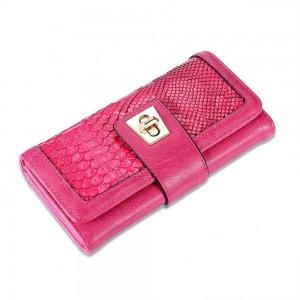 Sophia Trifold Wallet in Fuschia