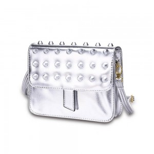 Vera Shoulder Bag in Silver