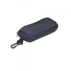 Vizard Flat Sunglass Case in Black