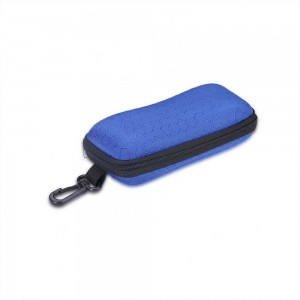 Vizard Flat Sunglass Case in Blue