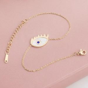 Ayna Blue Eye Stainless Steel Gold Plated Bracelet