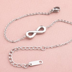 Finie Infinity Stainless Steel Silver Plated Bracelet