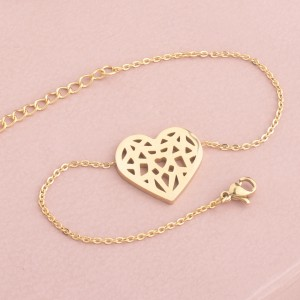 Mara Heart Stainless Steel Gold Plated Bracelet