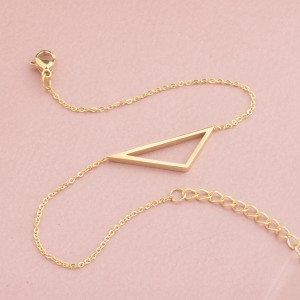 Triah Triangle Stainless Steel Gold Plated Bracelet
