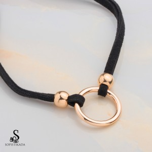 Ancy Stainless Steel Gold Plated Choker Necklace
