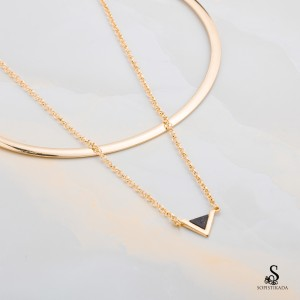 Tazanna Stainless Steel Gold Plated Choker Necklace