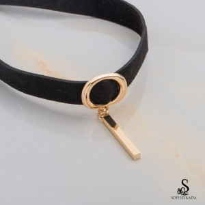 Yowa Stainless Steel Gold Plated Choker Necklace