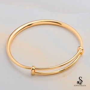 Mitchy Stainless Steel Gold Plated Bangle